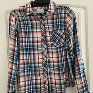 Tops - Plaid flannel button down universal thread